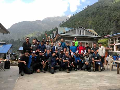 A Mt Everest base camp trek led by Sunshine Coast company Kokoda Spirit's Wayne Wetherall, to raise money for the Mark Hughes Foundation, saw several famous, former NRL icons join the trip.