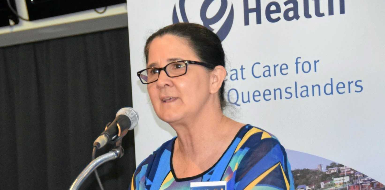 SMOKING SUMMIT: Local General Practitioner Dr Joan Chamberlain gave a speech at a smoking summit in Rockhampton yesterday.