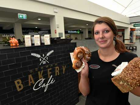 Lauren Alexander from the German Bakery Cafe at Big Top Shopping Centre.