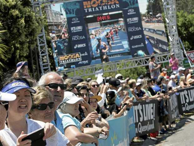 GOOD TIMES: Spectators and athletes enjoy the 2016 Noosa Triathlon.