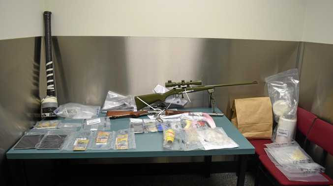 HOARDE: Various drugs, weapons and drug related property seized this week.