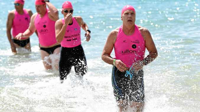 IN ACTION: Ron Acutt, pictured at an event in Hervey Bay, will compete at the Noosa Triathlon again.