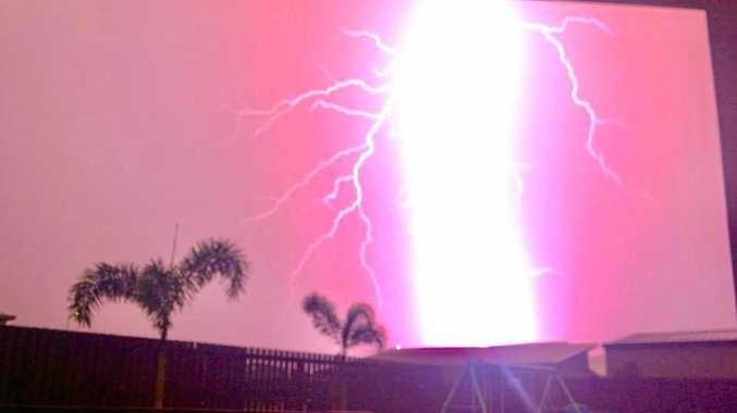This week's storm over Mackay.