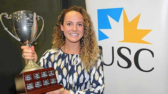 RECOGNISED: Jordan Mercer was acknowledged as USC's sportsperson of the year.