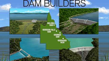 DAM BUILDERS: LNP plans to fund the construction of Rookwood Weir and other dams around Queensland.
