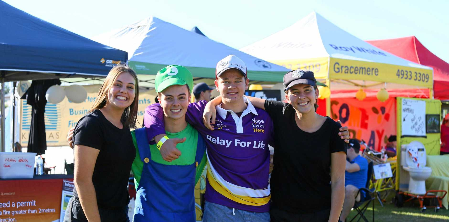 STEP BY STEP: India Slade, Jake Battersby, Dominic Mappas and Georgia Schick at a previous Relay for Life event.