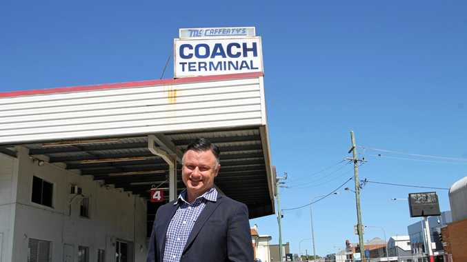 FOR SALE: The old McCafferty's bus terminal on Neil St now has a price tag on it, with McGrath's Real Estate commercial director Drew Camm putting $3.9m on the long-term property.