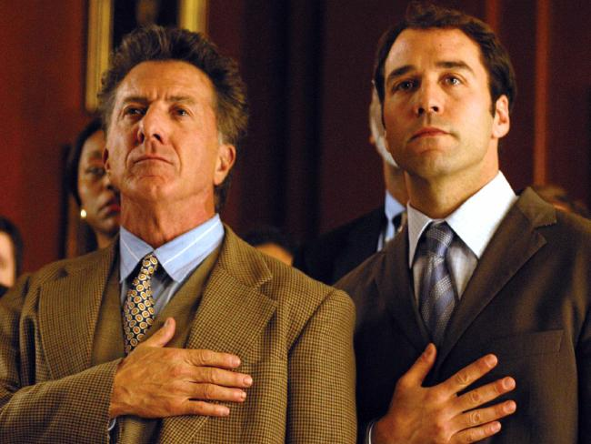 Dustin Hoffman in Runaway Jury with Jeremy Piven, another actor who has been accused of sexual misconduct.  Picture:  Supplied