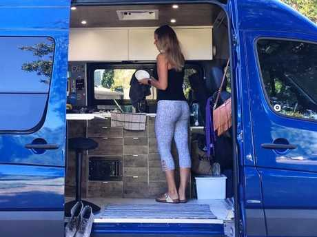 Two months later the couple bought their own 2013 Mercedes Sprinter to convert themselves. Picture: Media Drum World/australscope