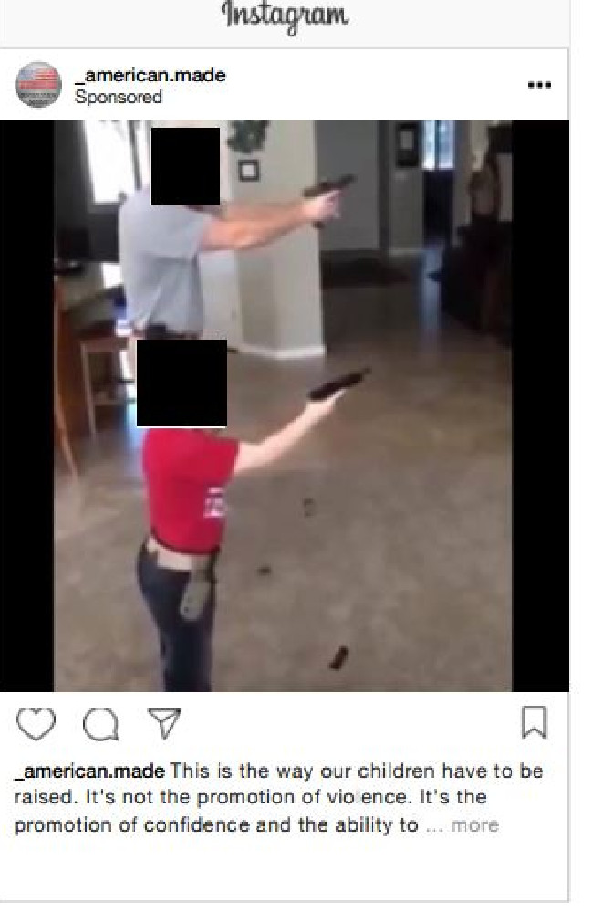 This Instagram ad sought to stoke the gun debate.