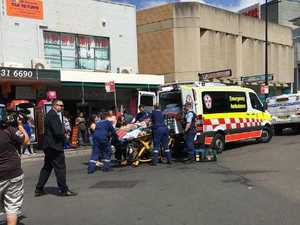 The moment teen was stabbed in the heart at shopping centre