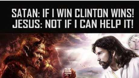 Standard good versus evil in this one.