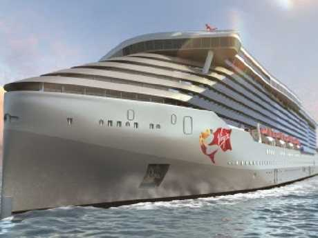 An artist impression of Virgin Voyages new ship.