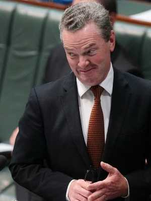 Defence Industry Minister Christopher Pyne in Parliament during question time. Picture: Stefan Postles/Getty