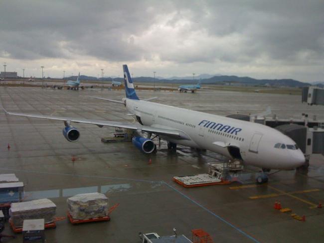 Finnair said it will start weighing passengers before flights. Picture: Henri Bergius