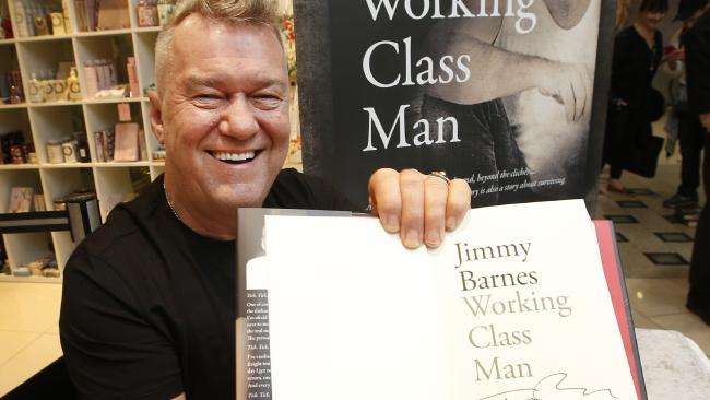 Jimmy Barnes at a book signing at Dymocks on Melbourne's Collins Street. Picture: David Caird