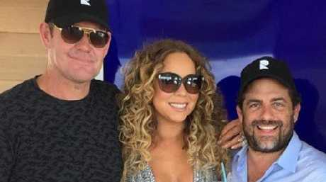 James Packer, Mariah Carey and Brett Ratner.  Picture:  Instagram