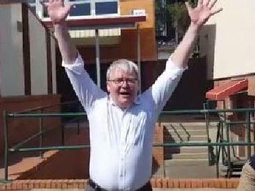 Kevin Rudd aka Handball King. Picture: Handball Memes/Facebook