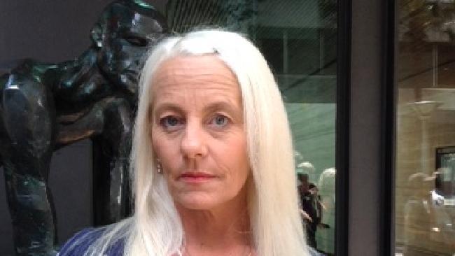 Love Australia or Leave founder Kim Vuga, outside court in Brisbane.