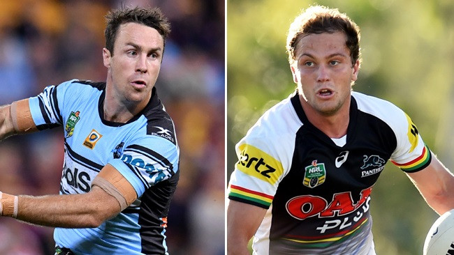 James Maloney and Matt Moylan in action.