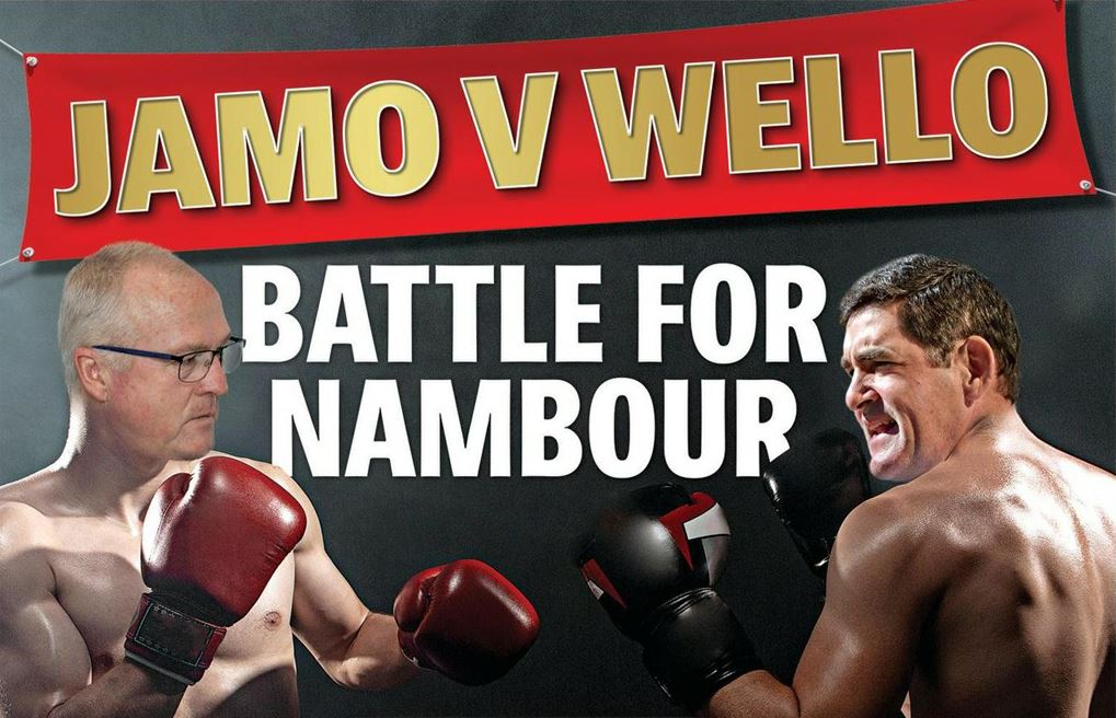 Mayor Mark Jamieson and retiring Nicklin MP Peter Wellington are trading blows ahead of the state election. Image digitally altered.