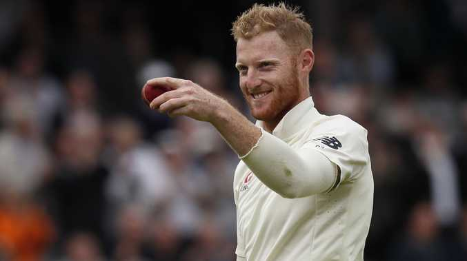 FILE - In this Thursday, Sept. 7, 2017 file photo, England's Ben Stokes holds up the ball after taking his sixth wicket on the first day of the third test match between England and the West Indies at Lord's cricket ground in London. The England and Wales Cricket Board says all-rounder Ben Stokes was arrested after incident in Bristol. In a statement, the ECB added that Stokes was detained early Mo