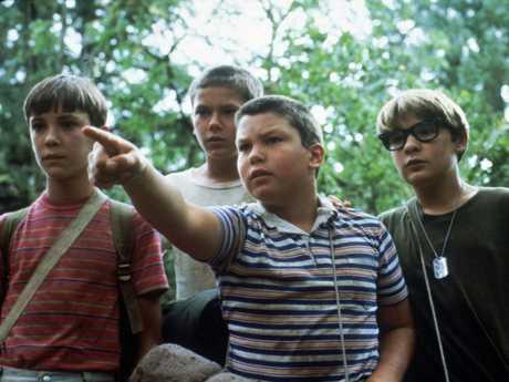 Corey Feldman, far right, in the 1986 movie,