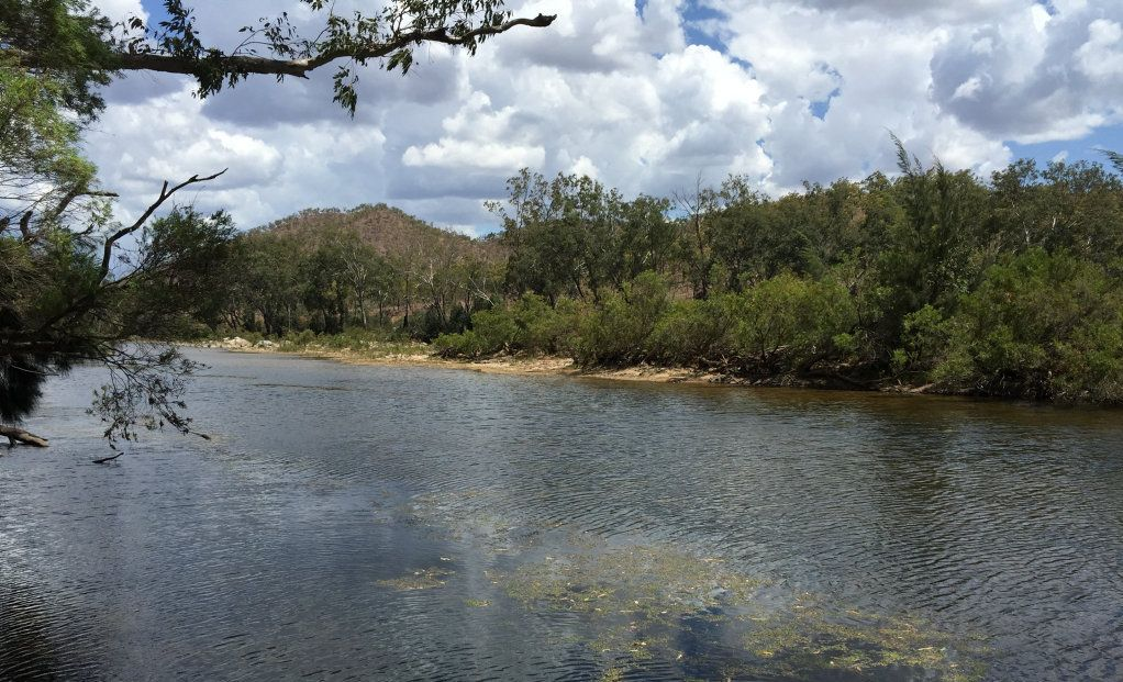 Urannah Creek, site of proposed Urannah Dam, west of Mackay