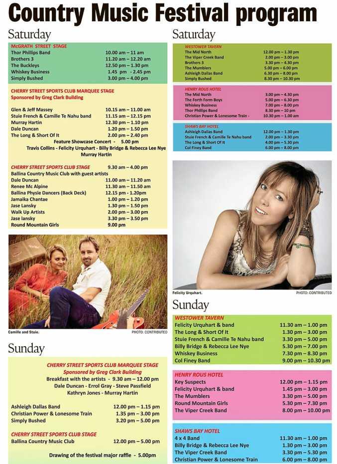 Ballina Country Music Program