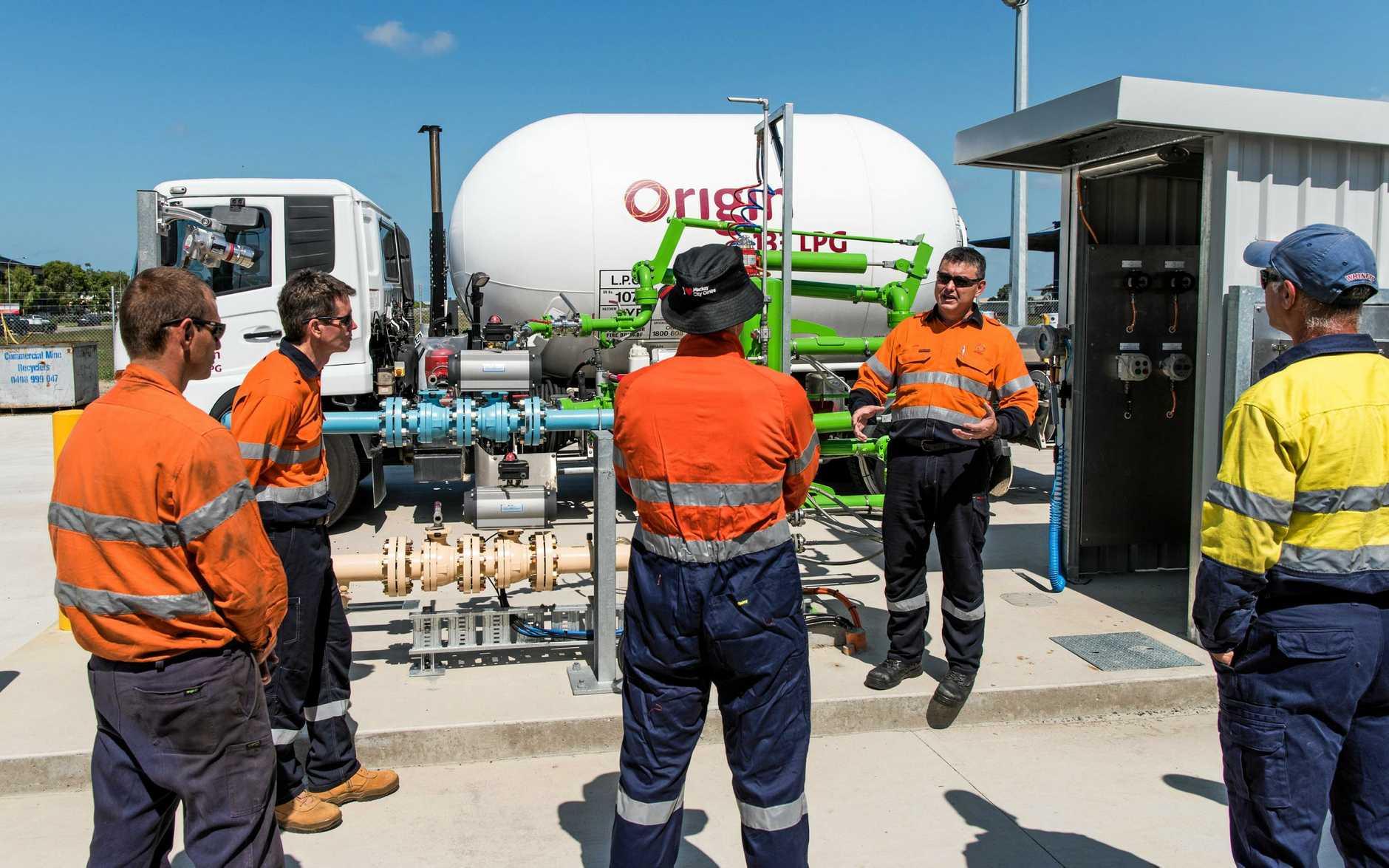 The grand opening of Origin's new LPG terminal.