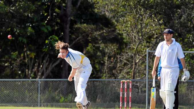 TOUGH MATCH: Nambour will take on competition frontrunners Caboolture on Saturday. Pictured is Nambour's bowler Sam Eiby.