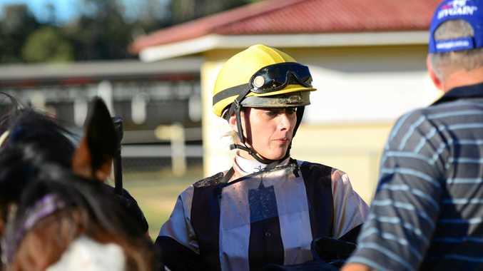 VISITING: Southeast Queensland jockey Amy Van Der Sanden.