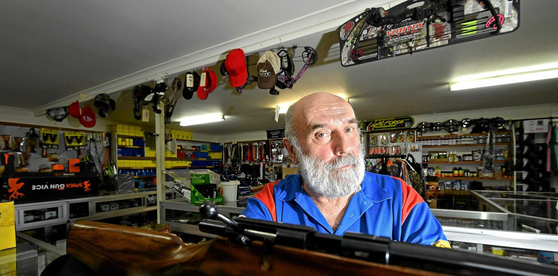 Ron Owen the owner of Owens Guns in Gympie.
