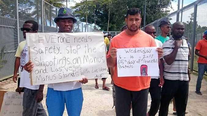 Protests on Manus Island.