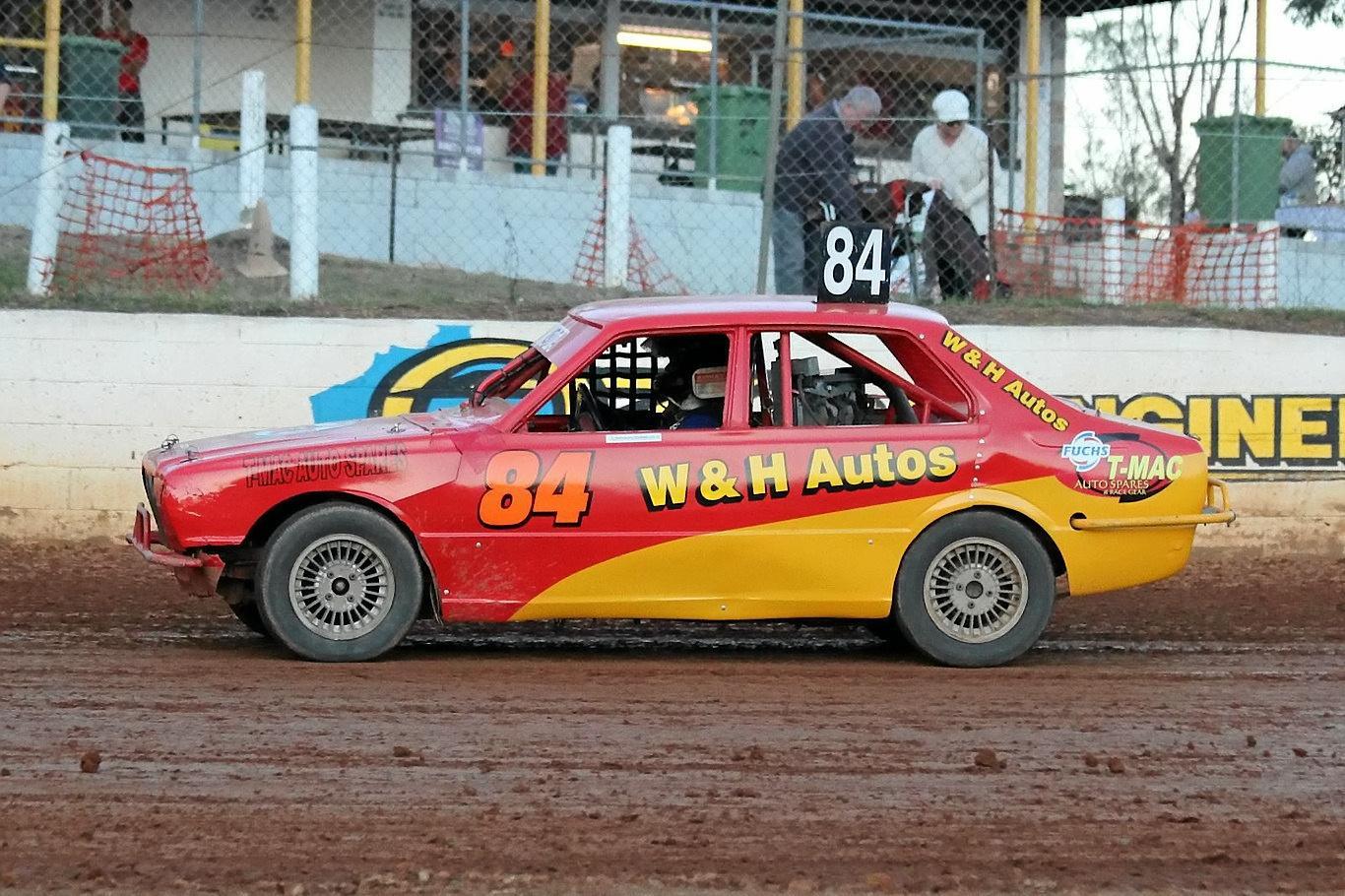 Hayden Turner in 4's. Corbet's Mothar Mountain Speedway Gympie.