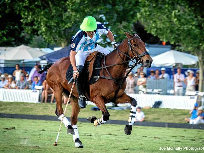 TOP FORM: Argentinian number one Lucio Fernandez Ocampo and Milo on their way to scoring the winning goal in the final of the polo championship.