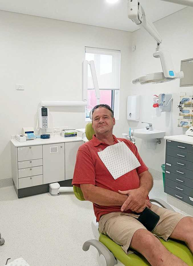 Coraki Campbell HealthOne welcomes patient, David Rawson, on the first day of Oral Health Services at the facility.