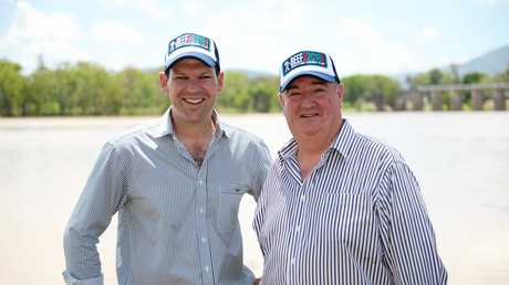 ROOKWOOD PROMISED: Federal Minister for Resources & Northern Australia Matt Canavan and LNP Shadow Minister for Energy, Biofuels and Water Supply Michael Hart.
