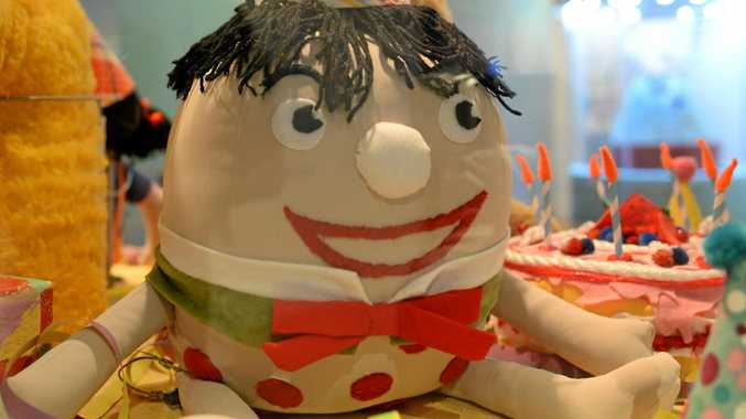 FAMILIAR FACE: Humpty Dumpty pops into Rockhampton for the Art Gallery's Happy Birthday Play School: Celebrating 50 years exhibition.