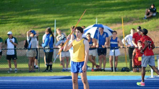Toowoomba Grammar School athlete Angus Davey last week broke a 15-year-old javelin record.