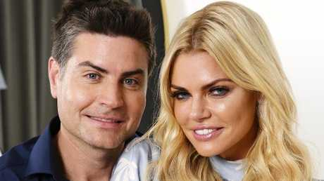 Sophie Monk and Bachelorette winner Stu Laundy. Picture: Justin Lloyd.