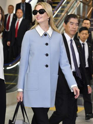 Ivanka is visiting Japan ahead of President Trump's first official trip to Asia. Picture: Yoshitaka Sugawara/Kyodo News.