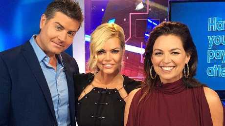 Sophie Monk and Stu Laundy enjoyed their appearance on Have You Been Paying Attention? Picture: Channel 10