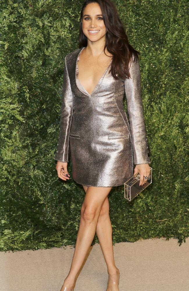 Meghan Markle in less conservative days at the CFDA/Vogue Fashion Fund Awards at Spring Studios on in New York City in 2015. Picture: Wire Image