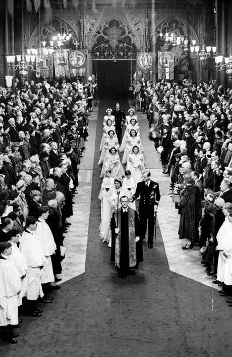 The royal wedding in 1947.