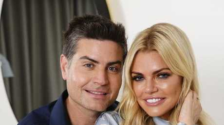 Sophie Monk and Bachelorette winner Stu Laundy cosy up together. Picture: Justin Lloyd.