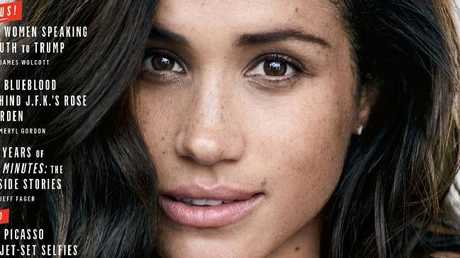 Meghan Markle on the cover of Vanity Fair. Picture: Vanity Fair