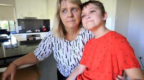 Cameron Schubert with mother Diane Schubert. Picture: Jamie Hanson