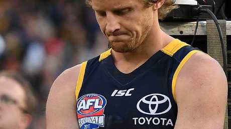 A devastated Rory Sloane after the grand final loss. Picture: AAP Image/Julian Smith