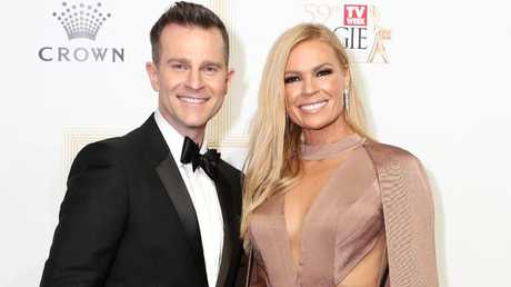David Campbell with his Today Extra co-host Sonia Kruger at this year's Logies. Picture: Julie Kiriacoudis